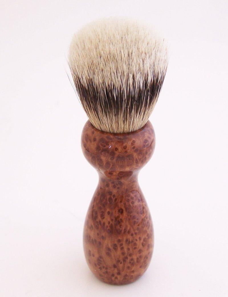Image 1 of Redwood Burl 20mm Silvertip Badger Shaving Brush (Handmade) R1