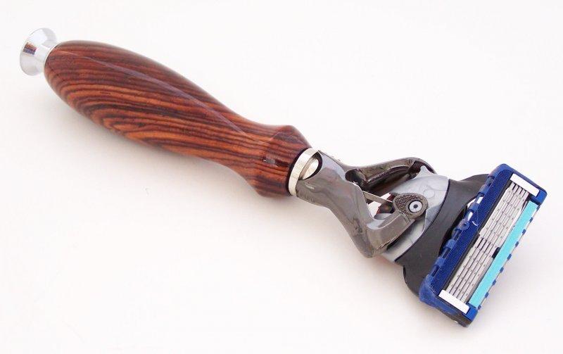 Image 2 of Cocobolo Wood Fusion Flexball Shaving Razor Handle (Handmade) C2