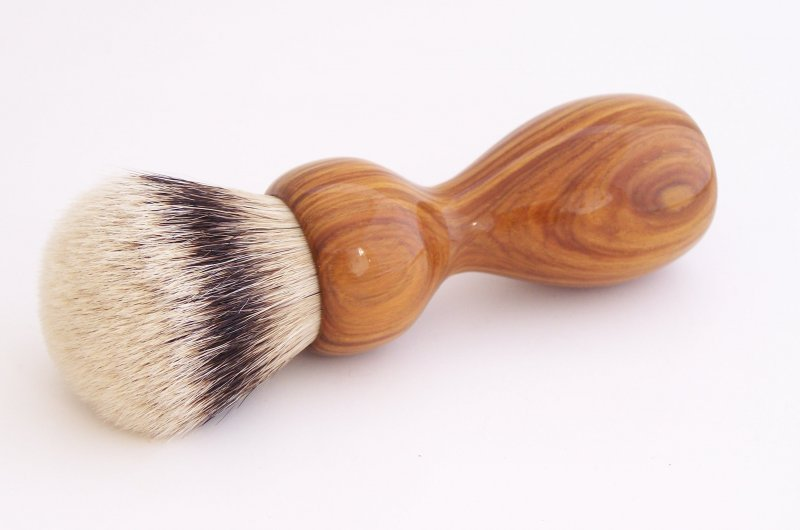 Image 0 of Lignum Vitae Wood 26mm Silvertip Badger Shaving Brush (Handmade) L2