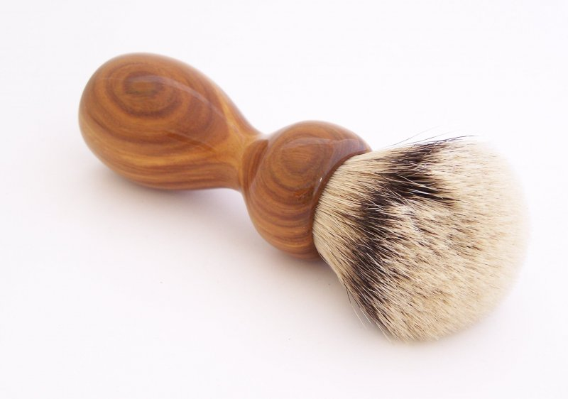 Image 1 of Lignum Vitae Wood 26mm Silvertip Badger Shaving Brush (Handmade) L2