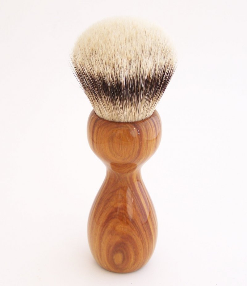 Image 2 of Lignum Vitae Wood 26mm Silvertip Badger Shaving Brush (Handmade) L2