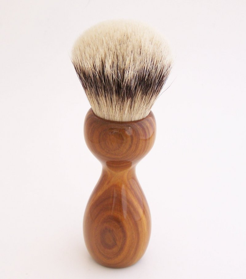 Image 3 of Lignum Vitae Wood 26mm Silvertip Badger Shaving Brush (Handmade) L2