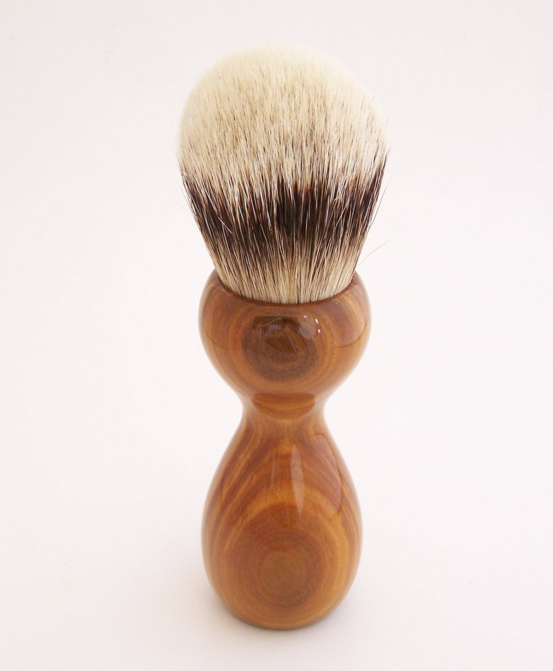 Image 3 of Lignum Vitae Wood 26mm Silvertip Badger Shaving Brush (Handmade) L1