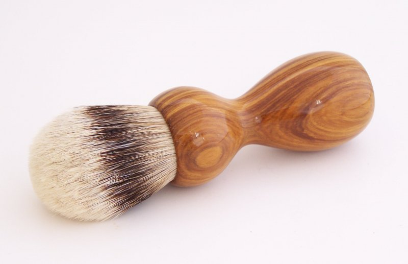 Image 0 of Lignum Vitae Wood 26mm Silvertip Badger Shaving Brush (Handmade) L1