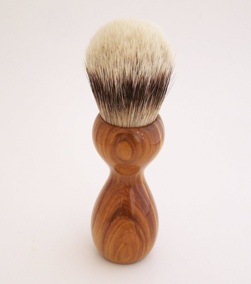 Image 1 of Lignum Vitae Wood 26mm Silvertip Badger Shaving Brush (Handmade) L1
