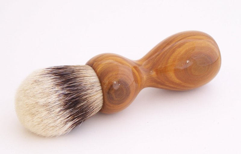 Image 2 of Lignum Vitae Wood 26mm Silvertip Badger Shaving Brush (Handmade) L1