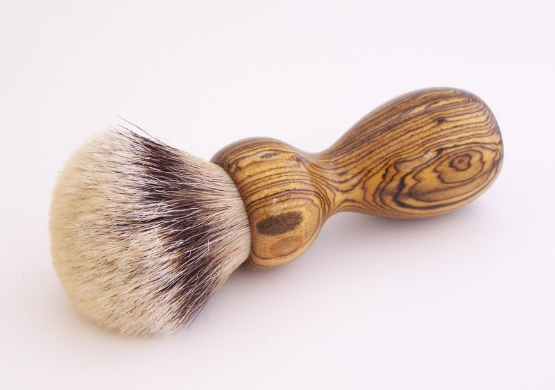 Image 0 of Bocote Wood 26mm Silvertip Badger Shaving Brush (Handmade) B1