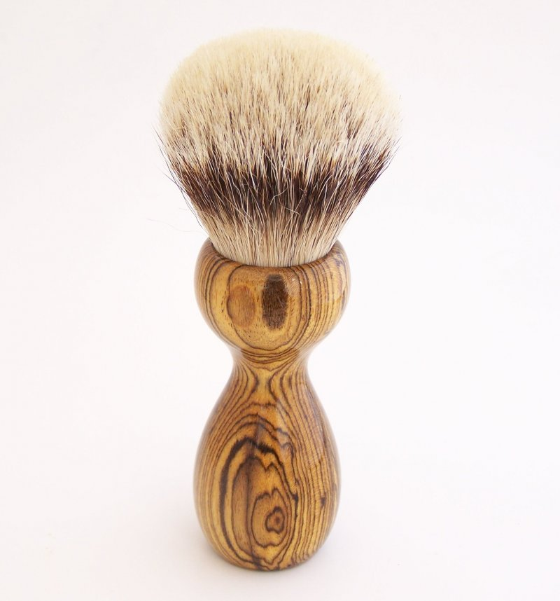 Image 2 of Bocote Wood 26mm Silvertip Badger Shaving Brush (Handmade) B1