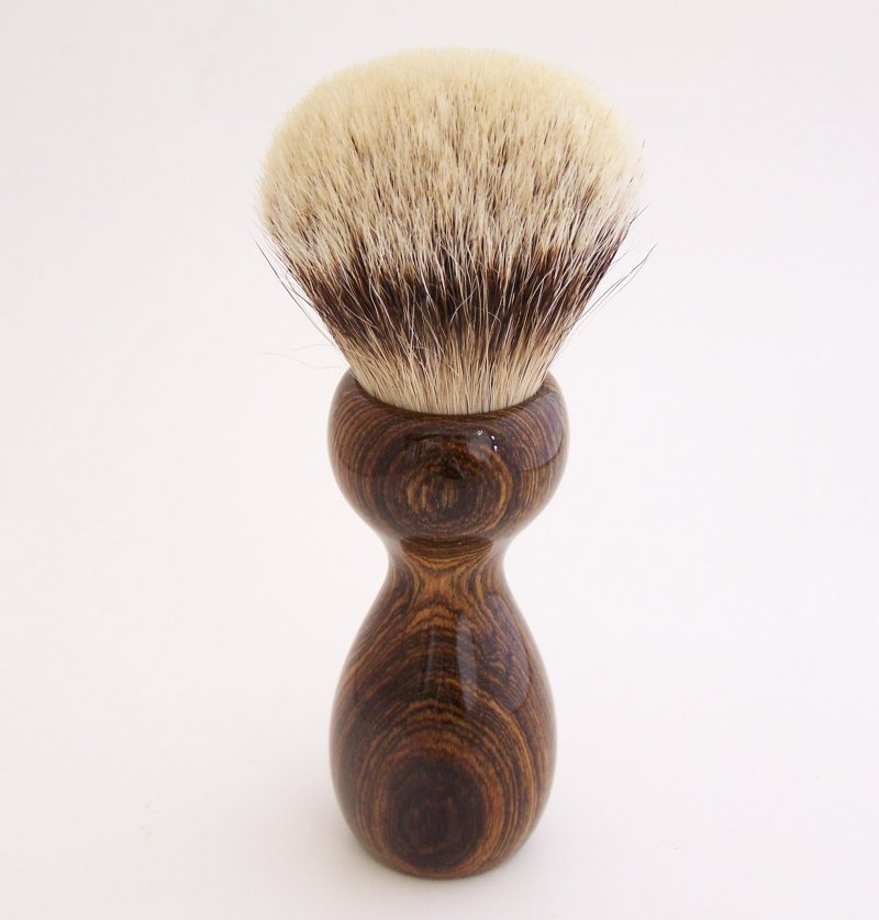 Image 3 of Bocote Wood 26mm Silvertip Badger Shaving Brush (Handmade) B1