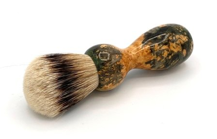 Image 0 of Gold/Black Box Elder Burl Wood 22mm Super Silvertip Badger Shaving Brush (G5)