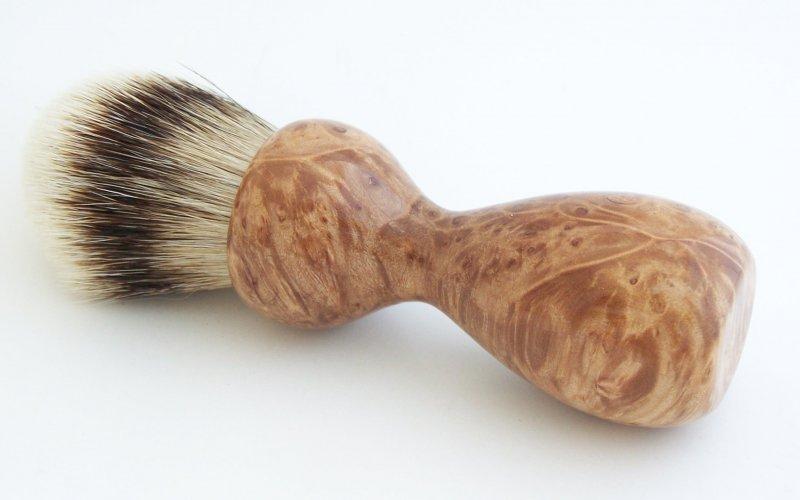 Image 0 of Maple Burl Wood 26mm Silvertip Badger Shaving Brush (Handmade) M13