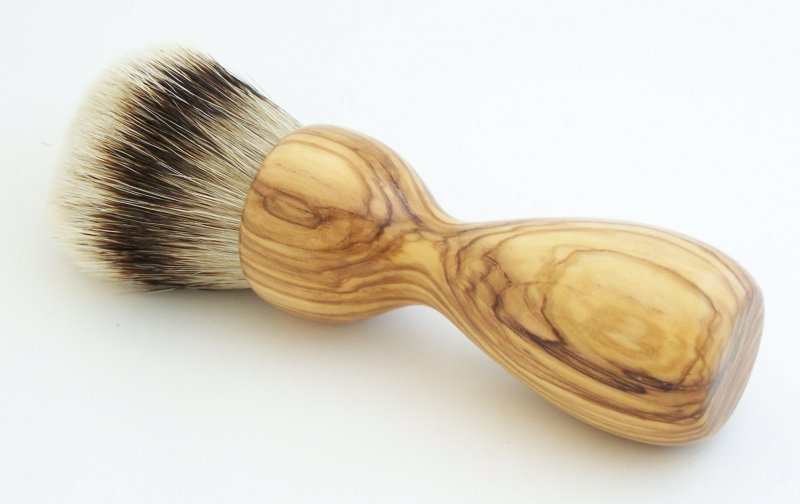 Image 0 of Olivewood 26mm Silvertip Badger Shaving Brush (Handmade) O1