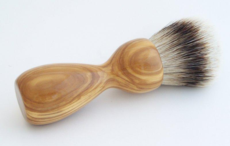 Image 2 of Olivewood 26mm Silvertip Badger Shaving Brush (Handmade) O1