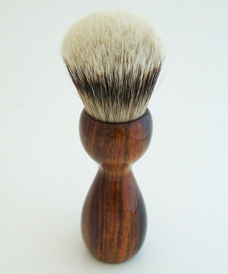 Image 2 of Desert Ironwood 26mm Silvertip Badger Shaving Brush (Handmade) D1