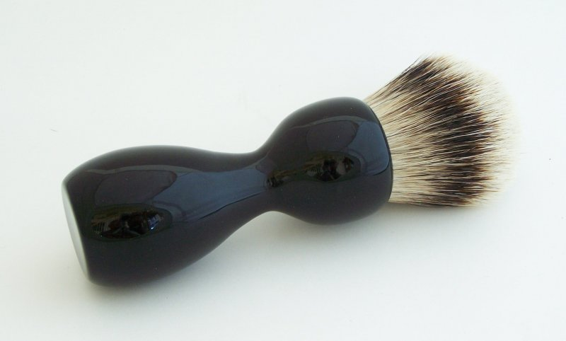Image 1 of Gabon Ebony Wood 26mm Silvertip Badger Shaving Brush (Handmade) G1