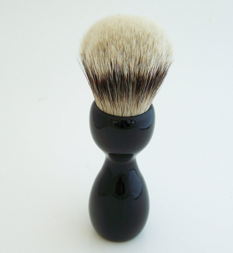 Image 2 of Gabon Ebony Wood 26mm Silvertip Badger Shaving Brush (Handmade) G1
