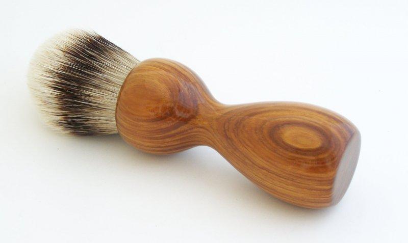 Image 0 of Lignum Vitae 26mm Silvertip Badger Shaving Brush (Handmade) L1