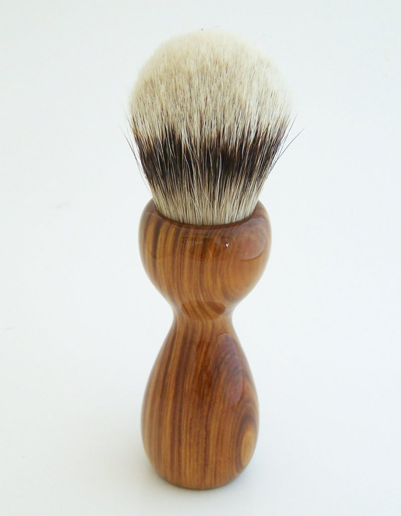 Image 2 of Lignum Vitae 26mm Silvertip Badger Shaving Brush (Handmade) L1