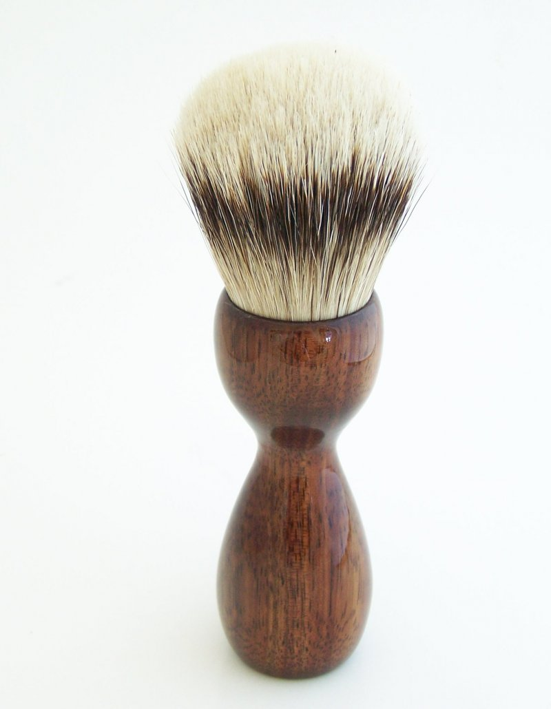 Image 2 of Hawaiian Koa Wood 26mm Silvertip Badger Shaving Brush (Handmade) K1