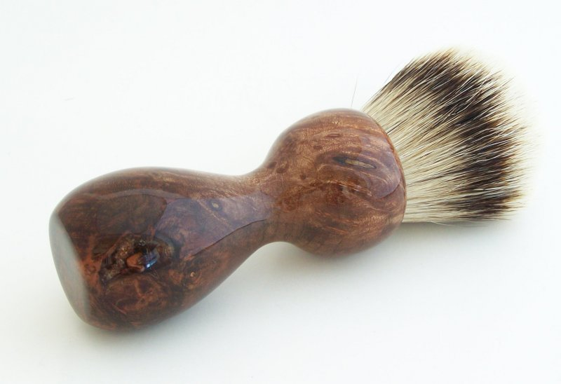 Image 1 of Redwood Burl Wood 26mm Silvertip Badger Shaving Brush (Handmade) R1