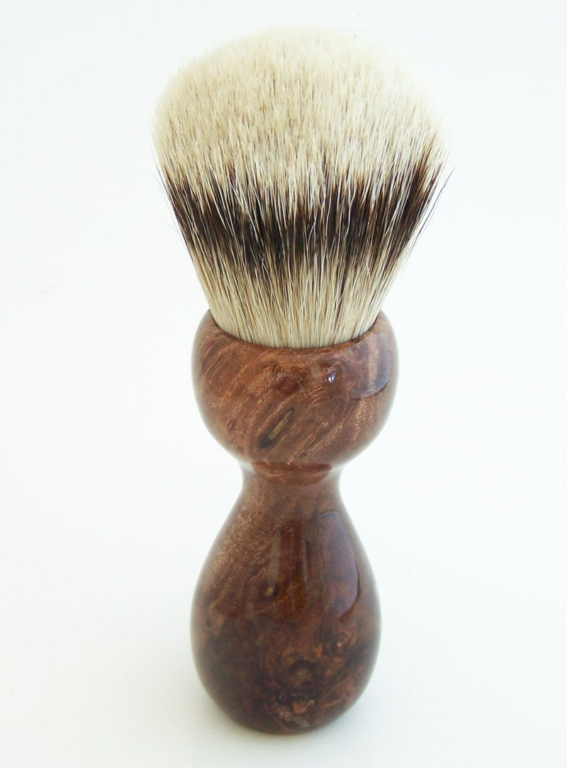 Image 3 of Redwood Burl Wood 26mm Silvertip Badger Shaving Brush (Handmade) R1