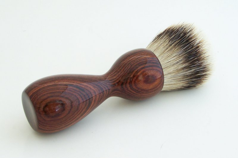 Image 1 of Cocobolo Wood 26mm Silvertip Badger Shaving Brush (Handmade) C2