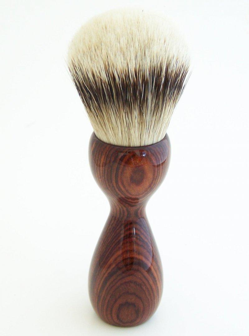 Image 2 of Cocobolo Wood 26mm Silvertip Badger Shaving Brush (Handmade) C2