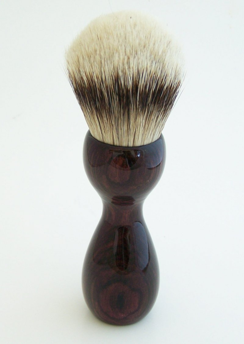 Image 3 of Camatillo Rosewood 26mm Silvertip Badger Shaving Brush (Handmade) C1
