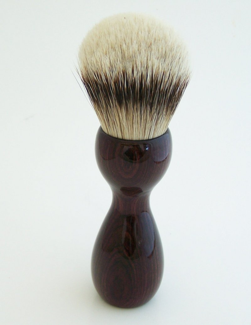Image 4 of Camatillo Rosewood 26mm Silvertip Badger Shaving Brush (Handmade) C1