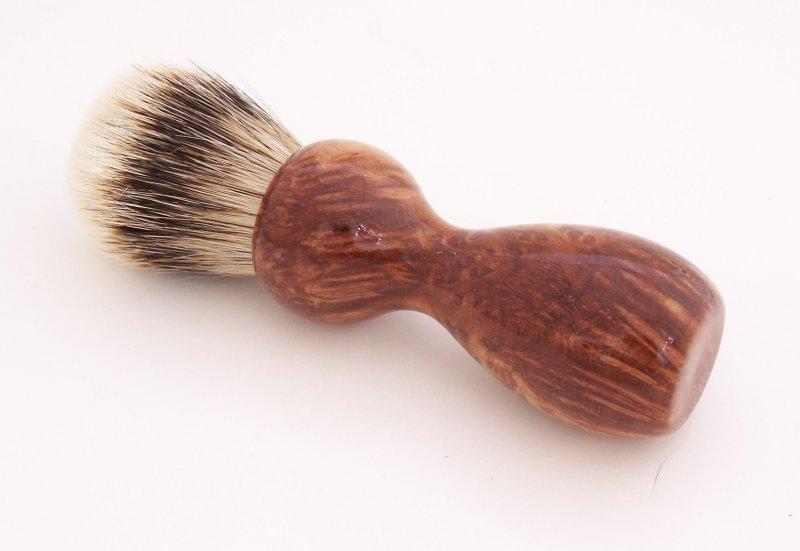 Image 0 of Redwood Burl Wood 20mm Silvertip Badger Shaving Brush (Handmade) R2