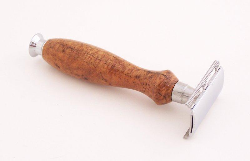 Image 0 of Cherry Burl Wood Double Edge (DE) Safety Razor Handle (Handmade) C10
