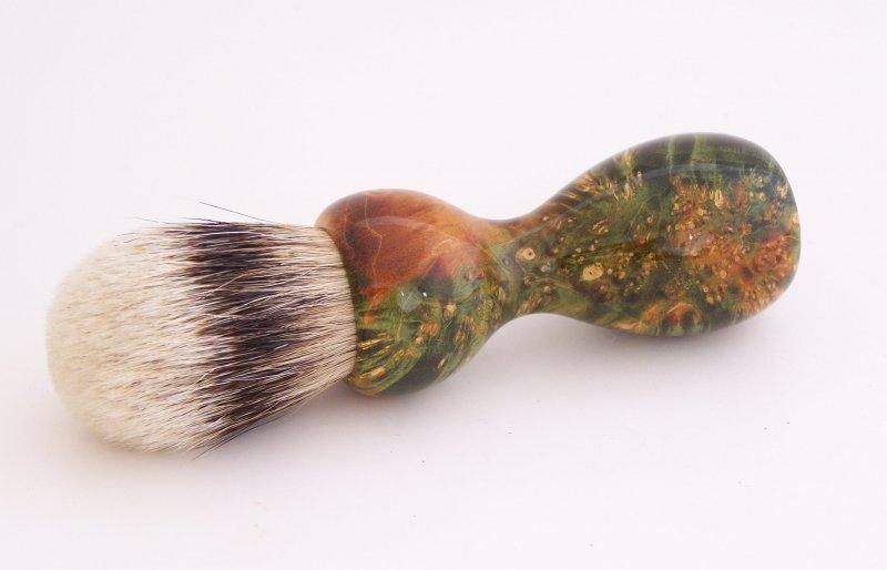 Image 1 of Box Elder Burl (dyed) Sample (NOT for SALE)