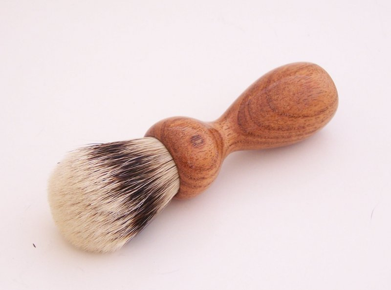 Image 0 of Mesquite Wood 20mm Super Silvertip Badger Hair Shaving Brush Handle (M1)