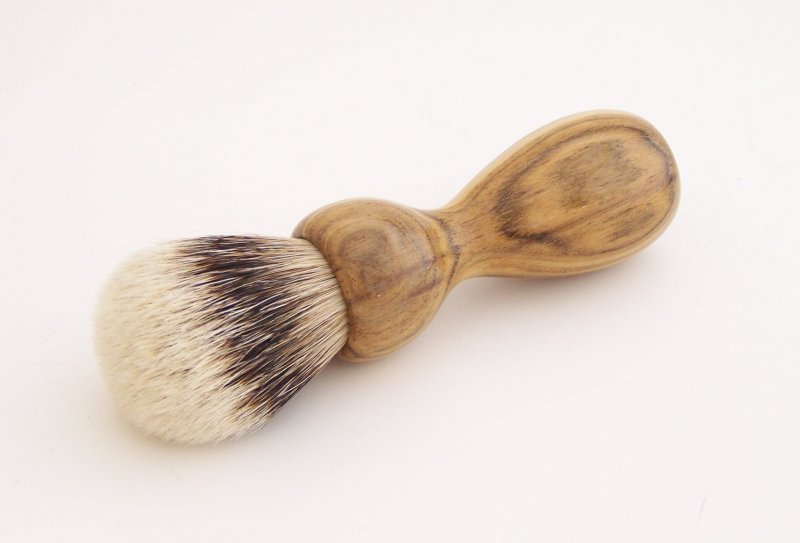 Image 0 of Pistachio Wood 20mm Super Silvertip Badger Hair Shaving Brush Handle (P1)