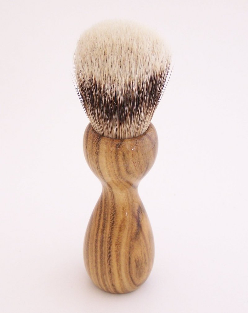 Image 2 of Pistachio Wood 20mm Super Silvertip Badger Hair Shaving Brush Handle (P1)