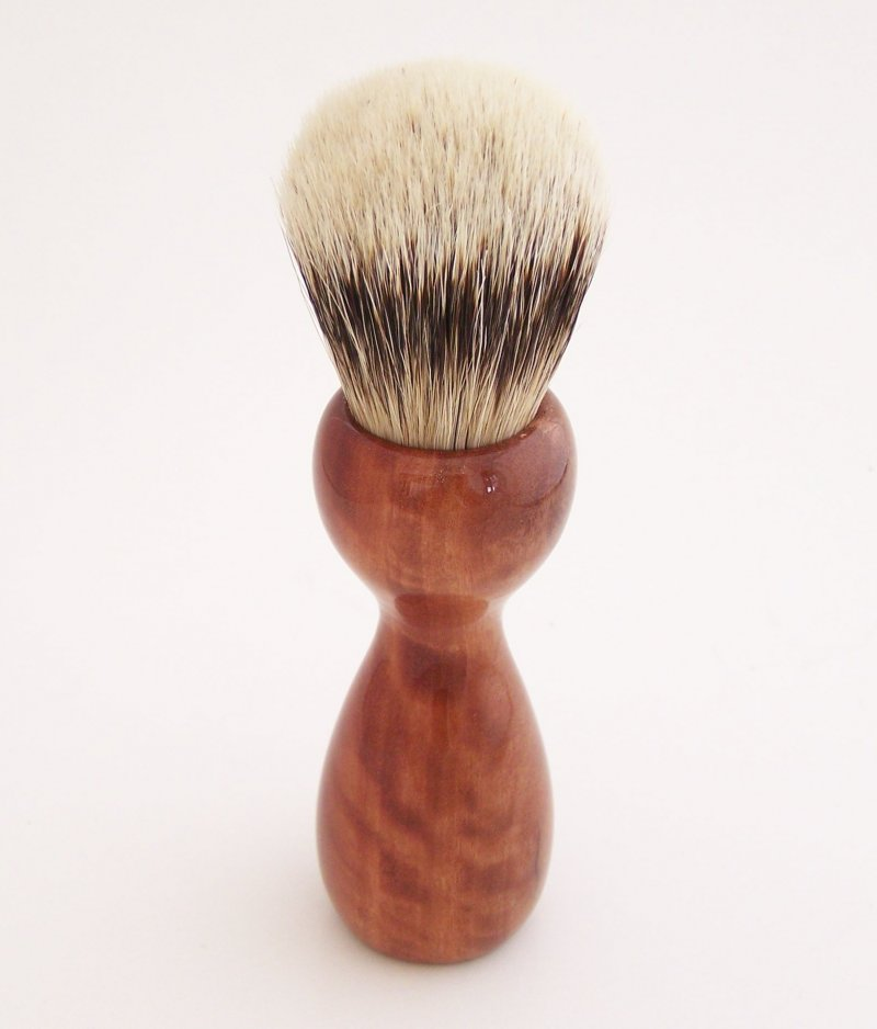 Image 2 of Curly Eucalyptus Wood 20mm Super Silvertip Badger Hair Shaving Brush Handle (E1)