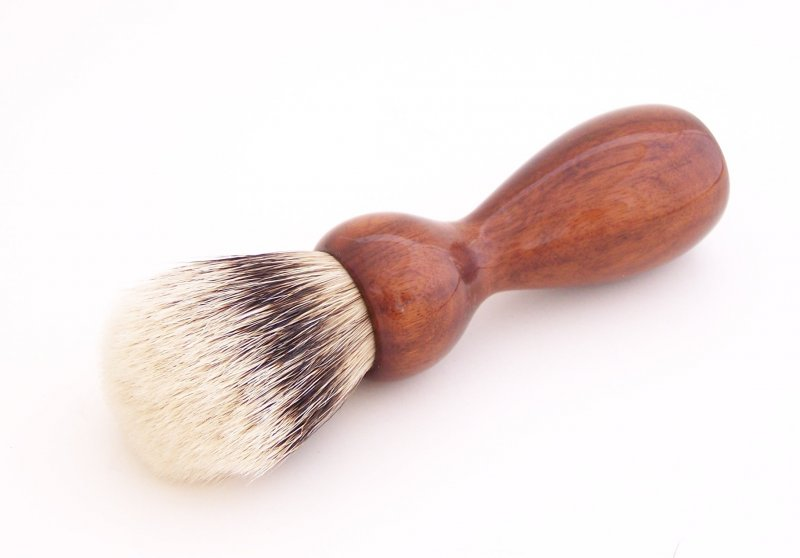 Image 0 of Mangrove Wood 20mm Super Silvertip Badger Hair Shaving Brush Handle (M1)