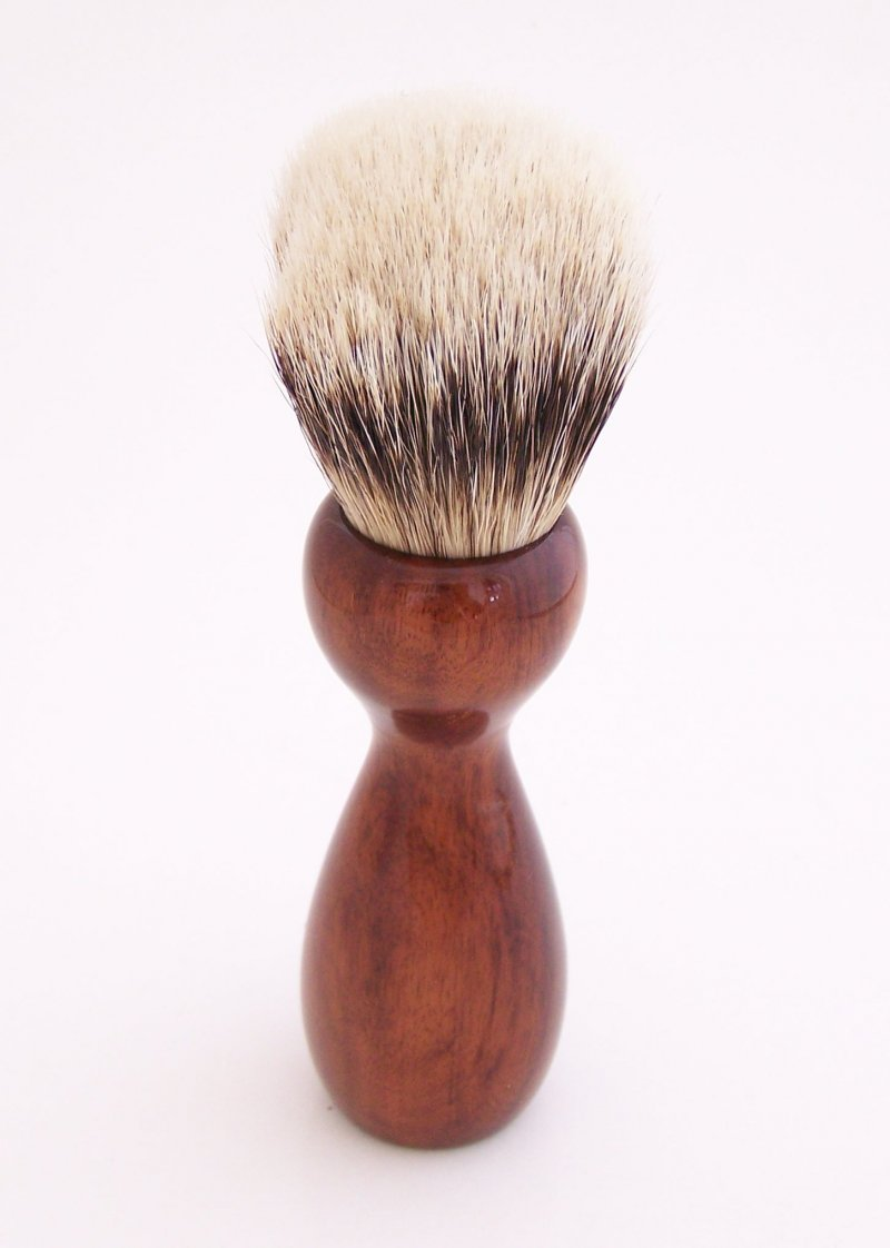 Image 2 of Mangrove Wood 20mm Super Silvertip Badger Hair Shaving Brush Handle (M1)