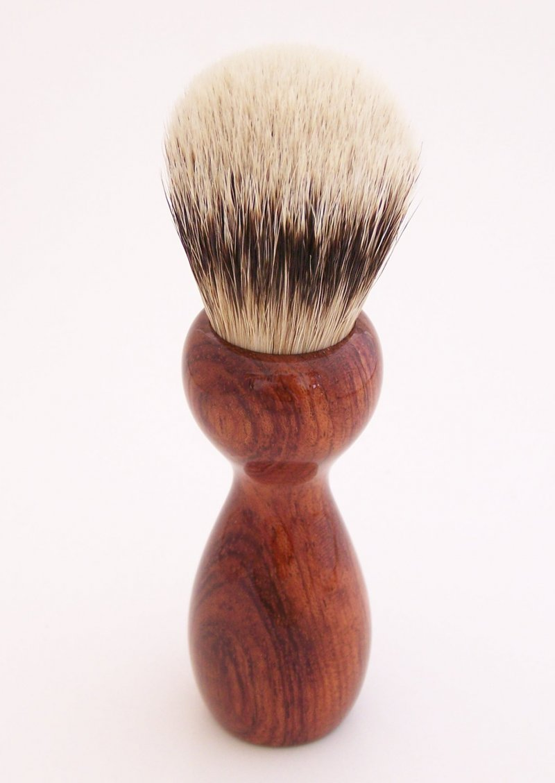 Image 2 of Bumbinga Wood 20mm Super Silvertip Badger Hair Shaving Brush Handle (B1)
