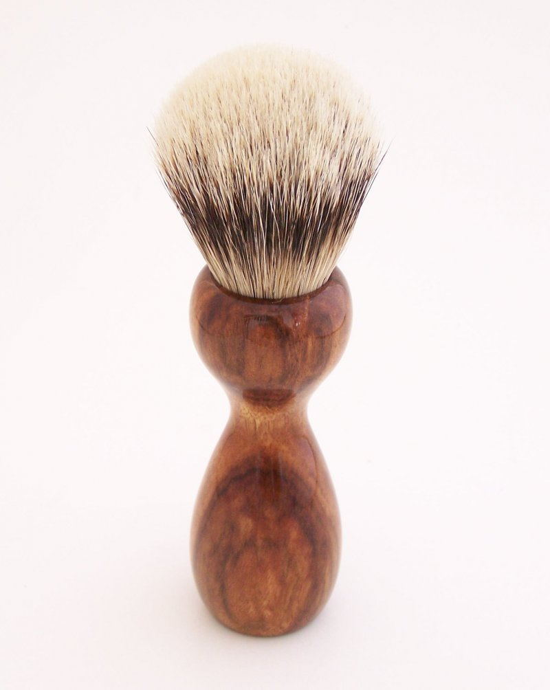 Image 2 of Chechen Wood 20mm Super Silvertip Badger Hair Shaving Brush Handle (C1)