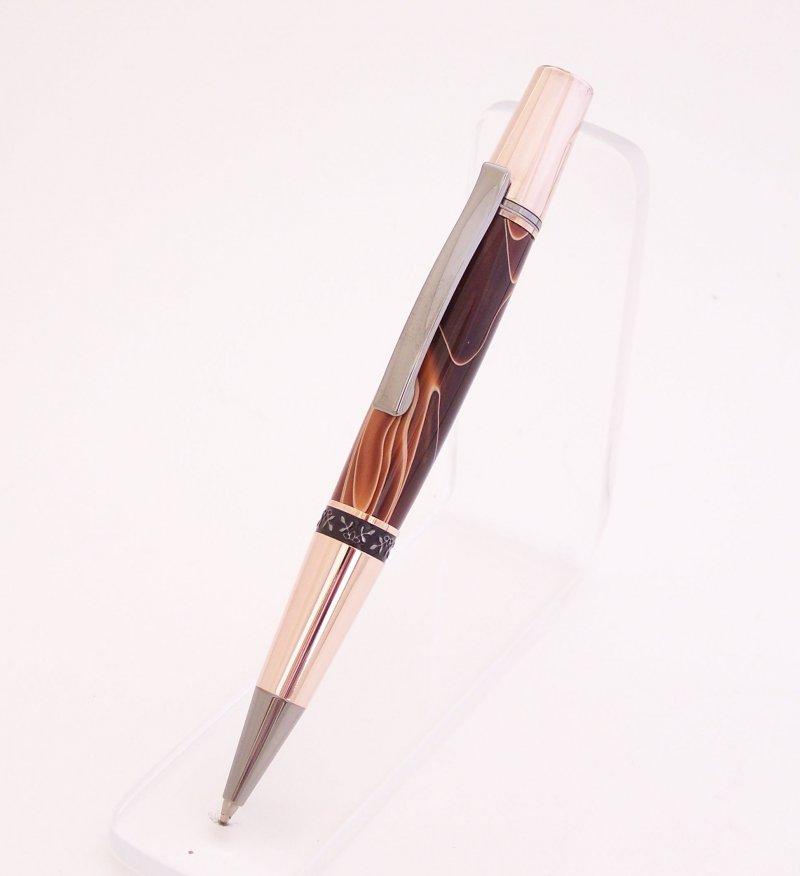 Image 0 of Copper Swirl Acrylic Elegant Beauty Ballpoint Pen (Handmade in USA) EB3