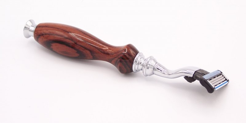Image 2 of Camatillo Rosewood Mach 3 Razor Shaving Handle (Handmade in USA) C2