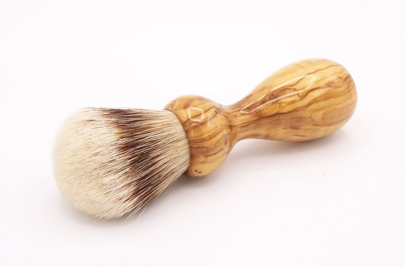 Image 0 of Olivewood 24mm Super Silvertip Badger Shaving Brush (O2)