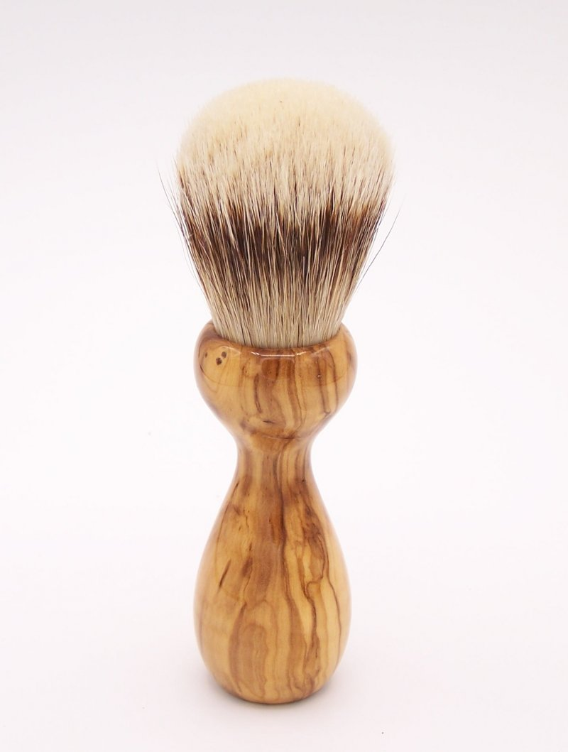 Image 2 of Olivewood 24mm Super Silvertip Badger Shaving Brush (O2)