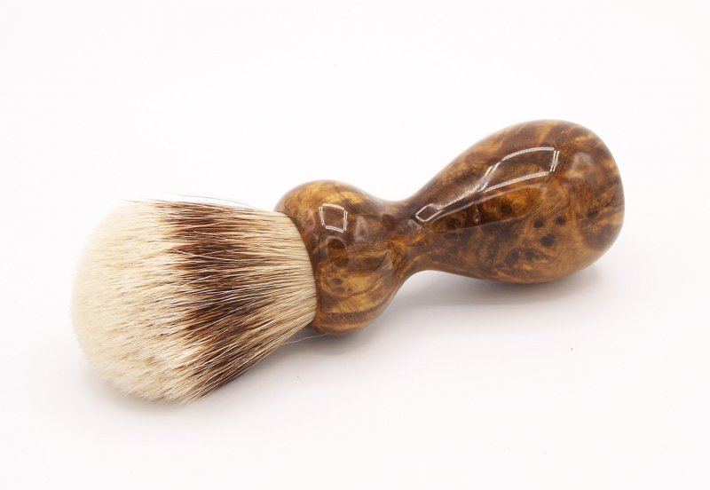Image 0 of Gmelia Burl Wood 24mm Super Silvertip Badger Shaving Brush (G1)