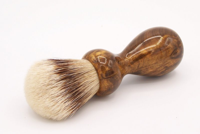 Image 1 of Gmelia Burl Wood 24mm Super Silvertip Badger Shaving Brush (G1)