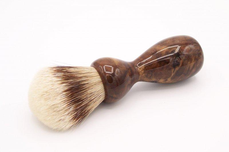 Image 0 of Claro Walnut Burl Wood 24mm Super Silvertip Badger Shaving Brush (W1)