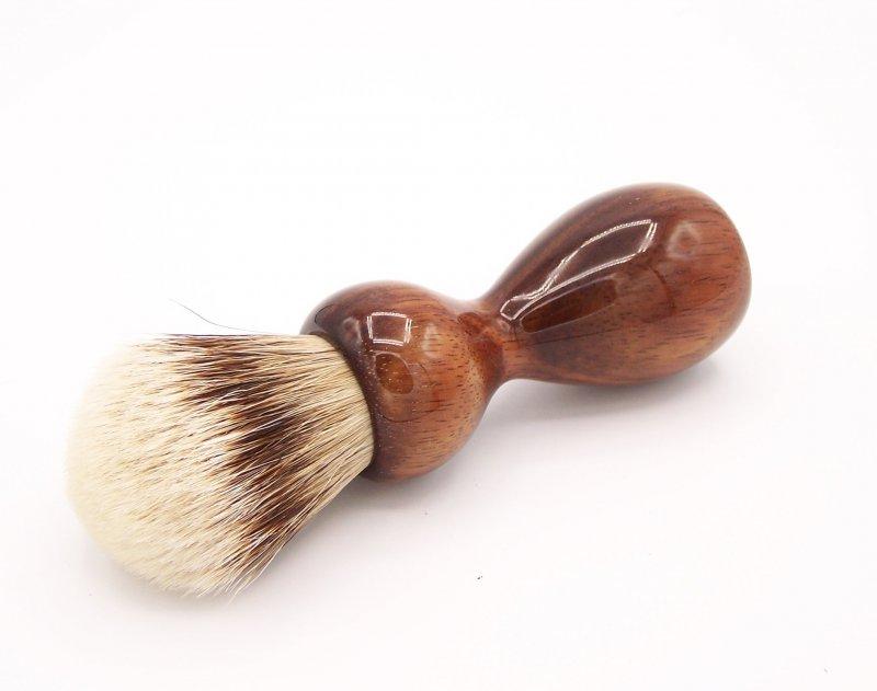 Image 0 of Hawaiian Koa Wood 24mm Super Silvertip Badger Shaving Brush (K1)