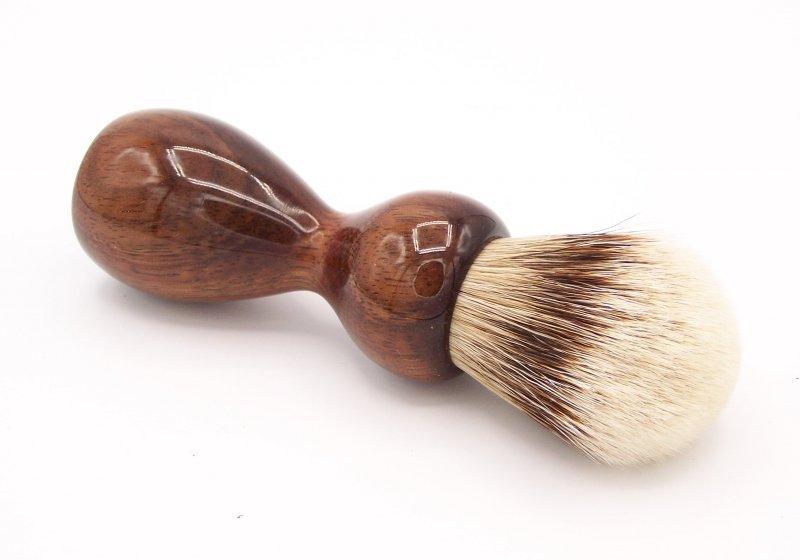 Image 1 of Hawaiian Koa Wood 24mm Super Silvertip Badger Shaving Brush (K1)