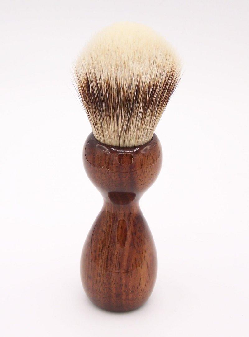 Image 2 of Hawaiian Koa Wood 24mm Super Silvertip Badger Shaving Brush (K1)